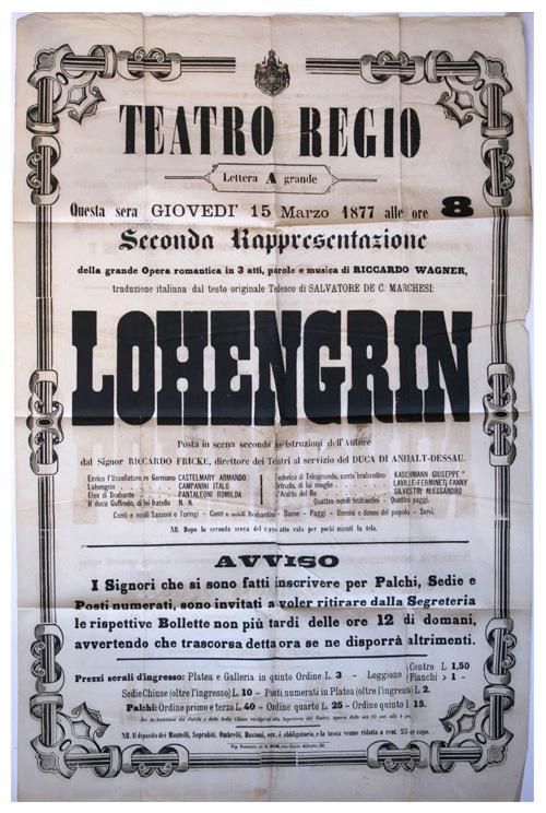 Theaterzettel, Richard Wagner, Lohengrin