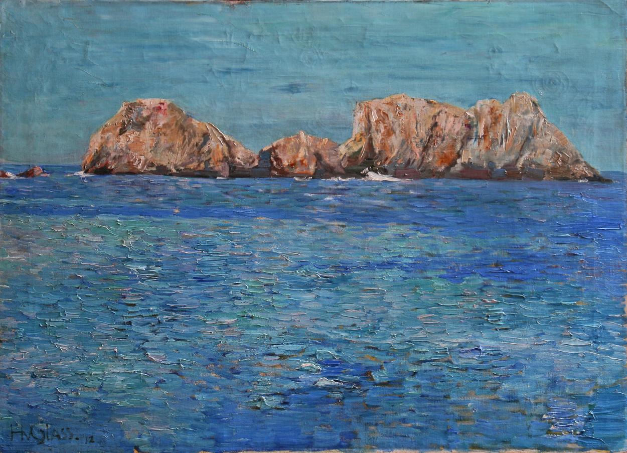 Hermann von Glass, Felsen im Meer