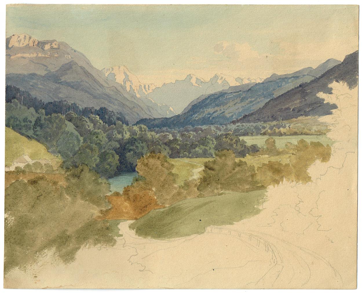 Heinrich Gärtner zugeschrieben, Landschaftsstudie
