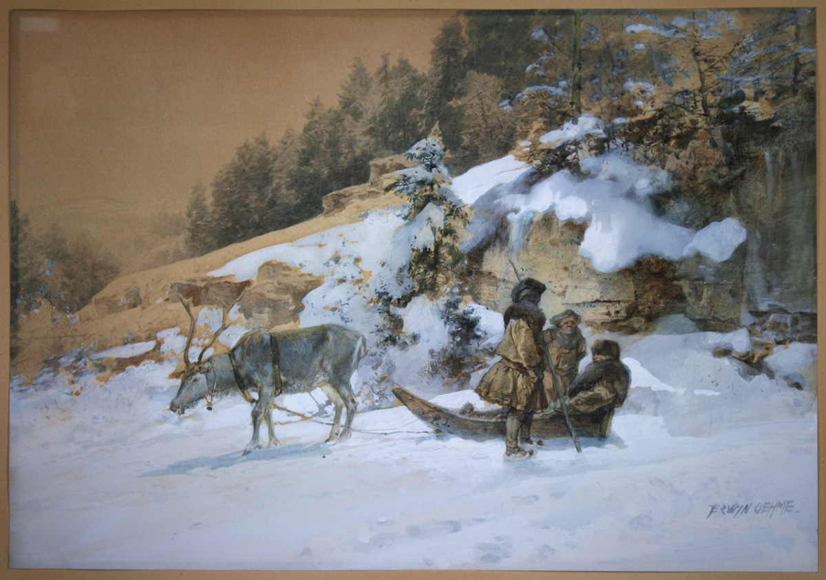 Ernst Erwin Oehme, Nordische Winterszene