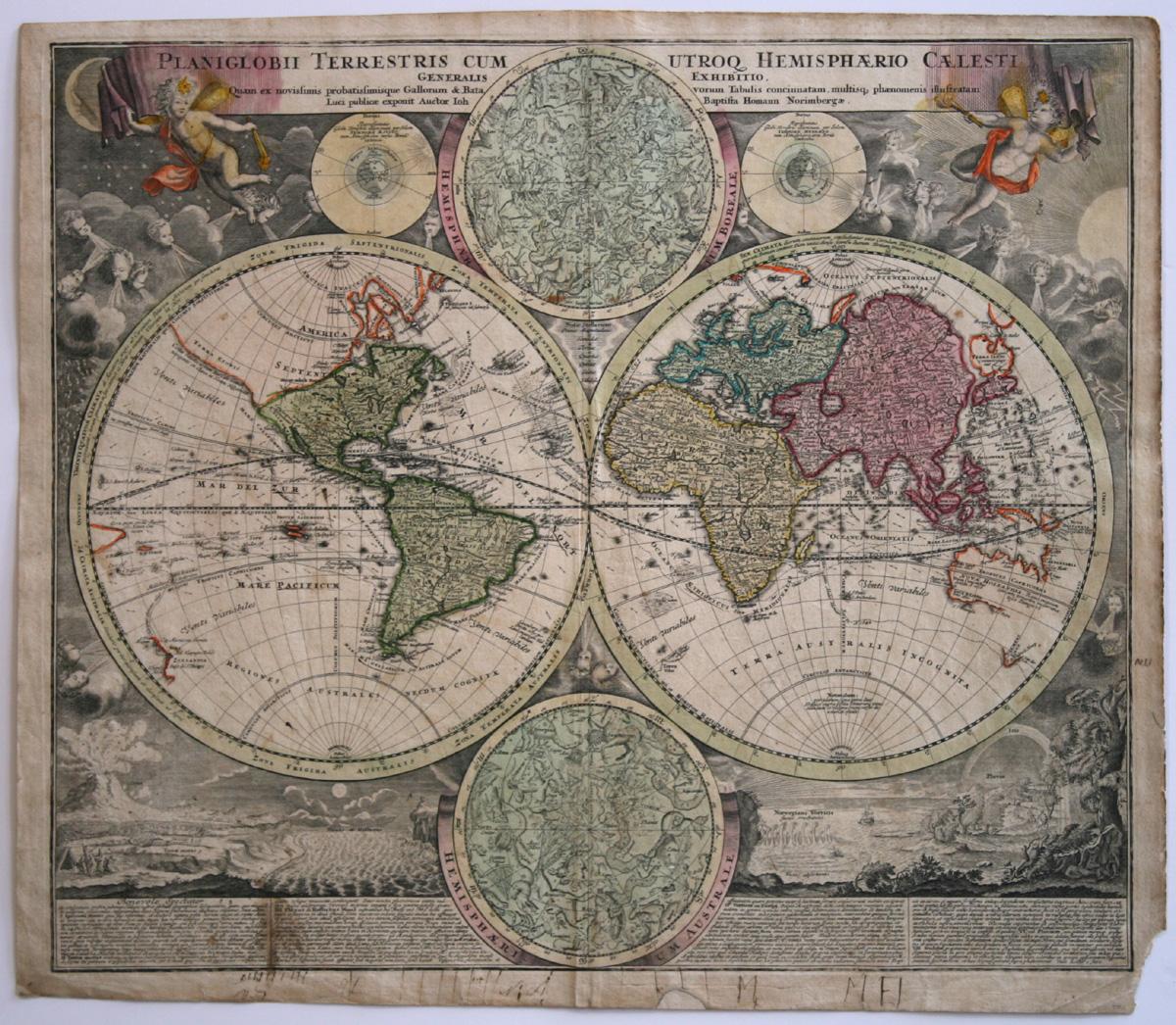 Johann Baptist Homann, Weltkarte