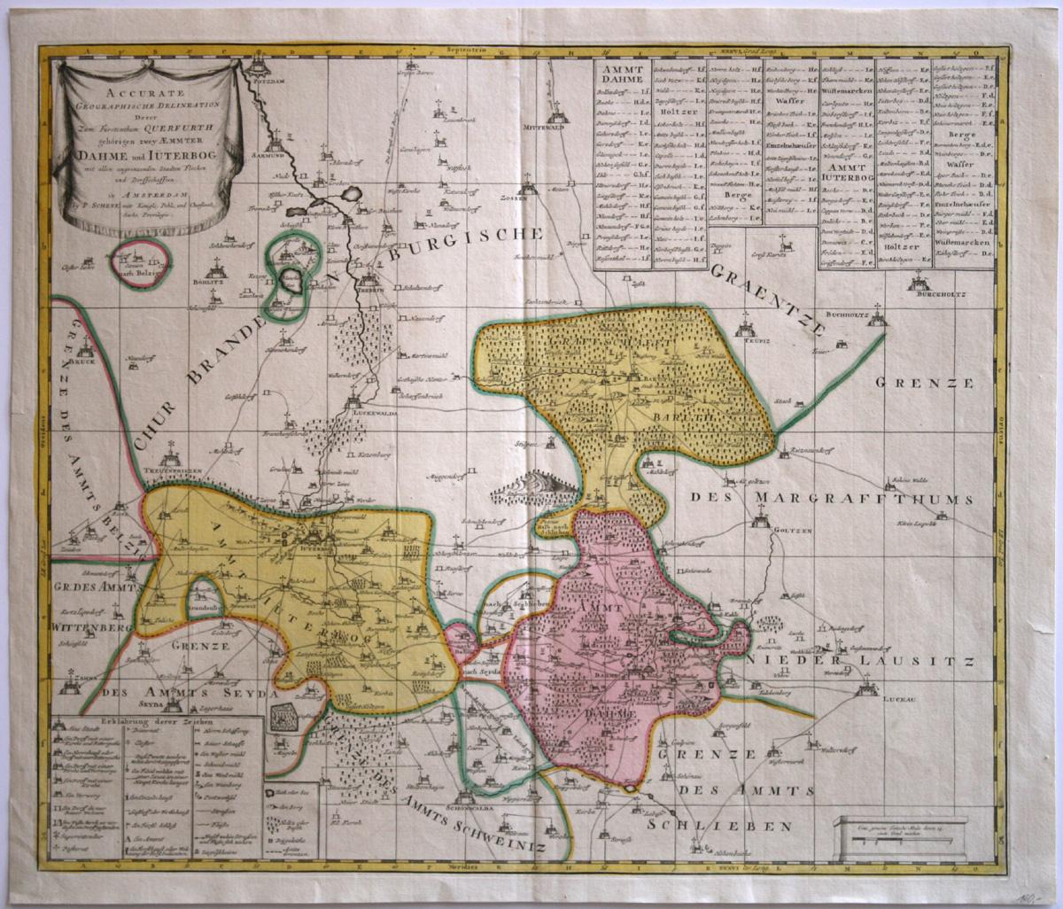 Peter Schenk d. J., Karte der  Ämter Dahme und Jüterbog