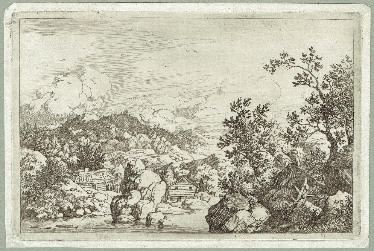 Allaert van Everdingen, Der aus dem Wasser herausragende Felsen
