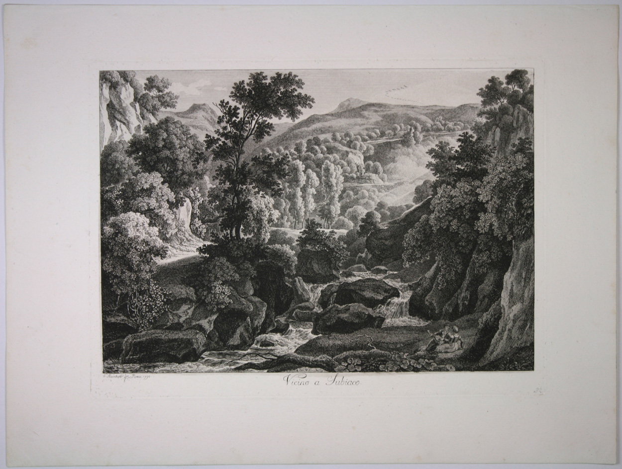 Johann Christian Reinhart, Vicino a Subiaco