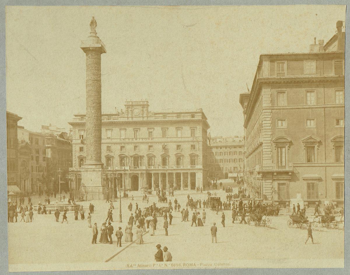 Fratelli Alinari, Roma, Rom, Piazza Colonna