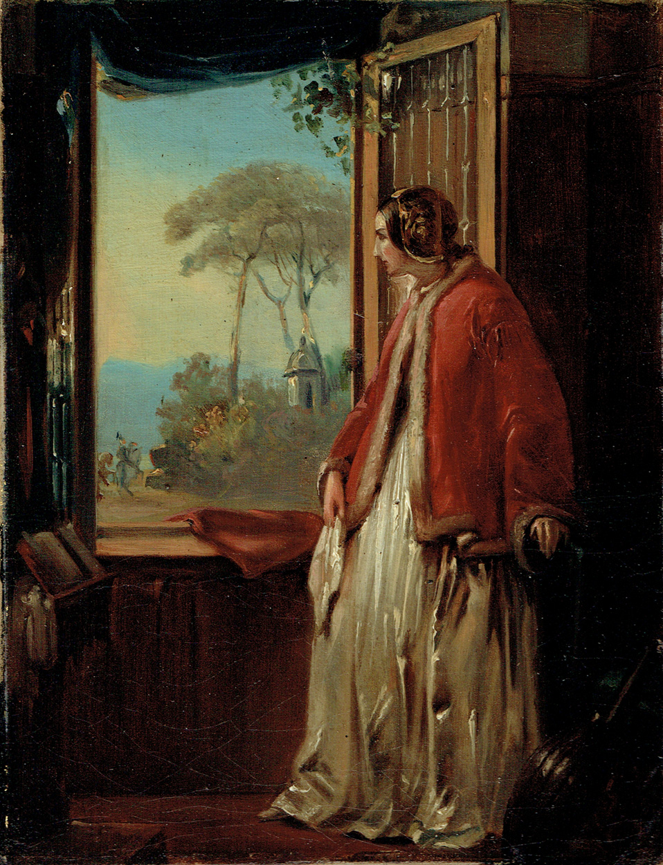 Dame mit Mandoline am Fenster