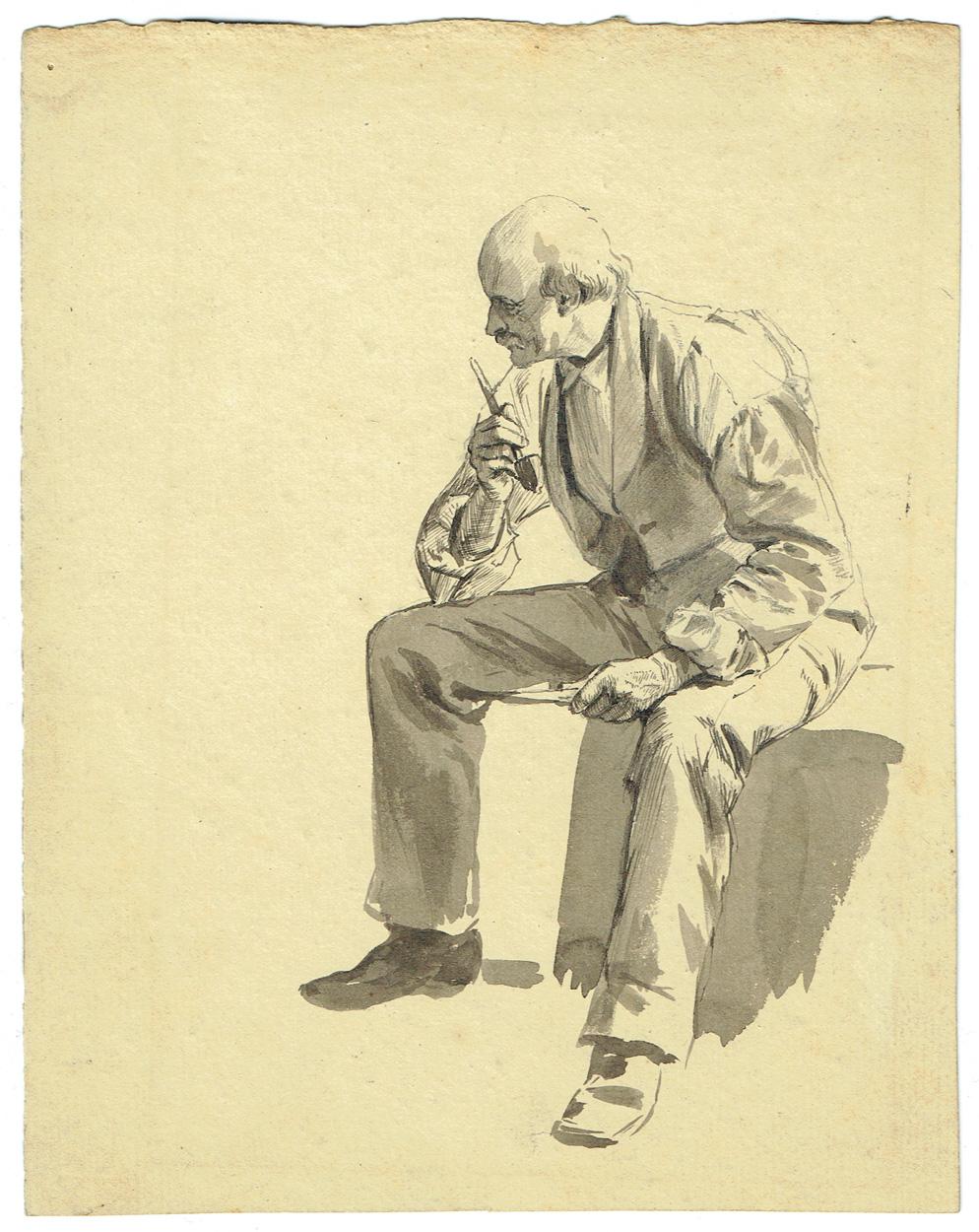 Wilhelm Claudius, Sitzender Mann