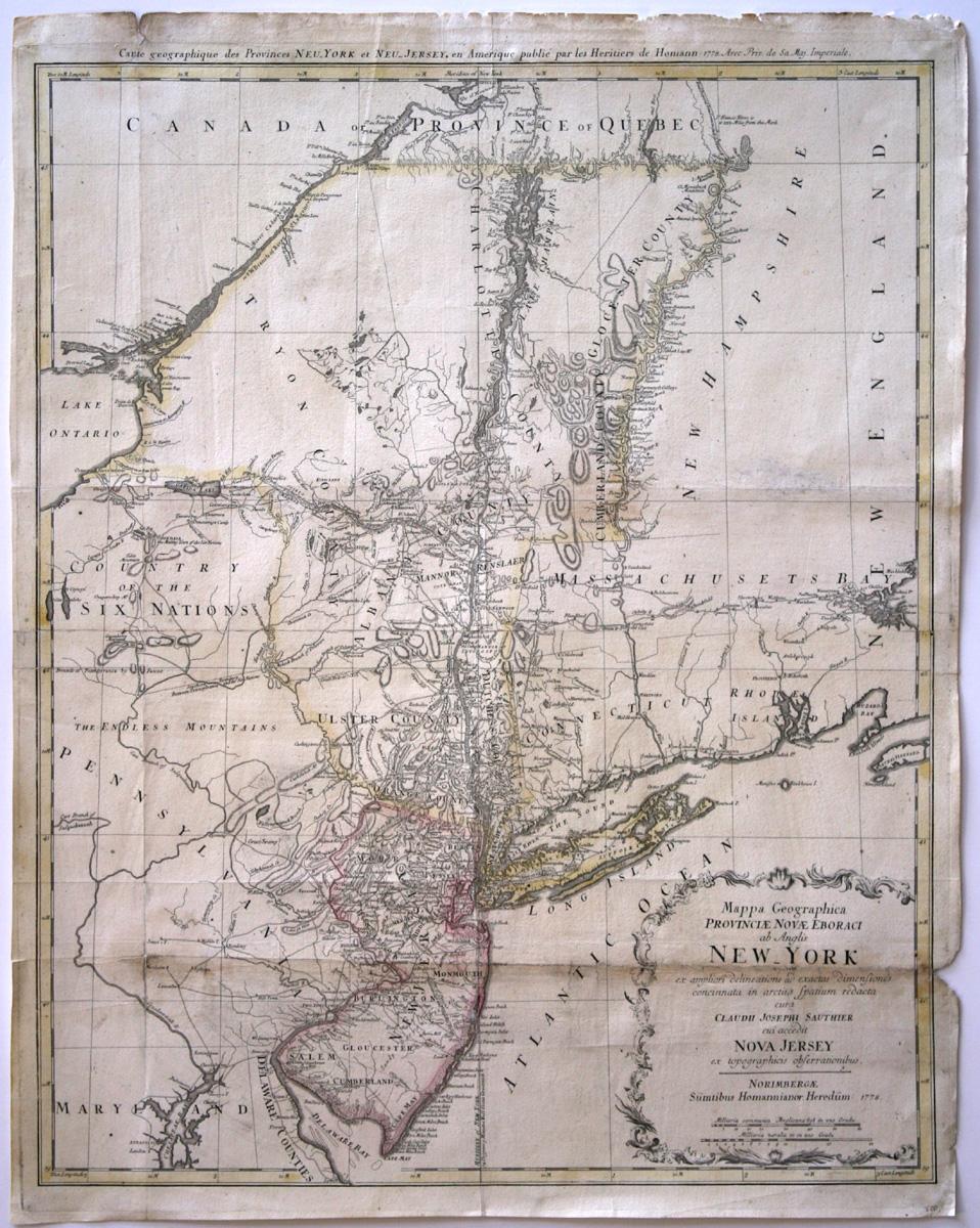 Claude-Joseph Sauthier, Karte der Provinzen New York und New Jersey