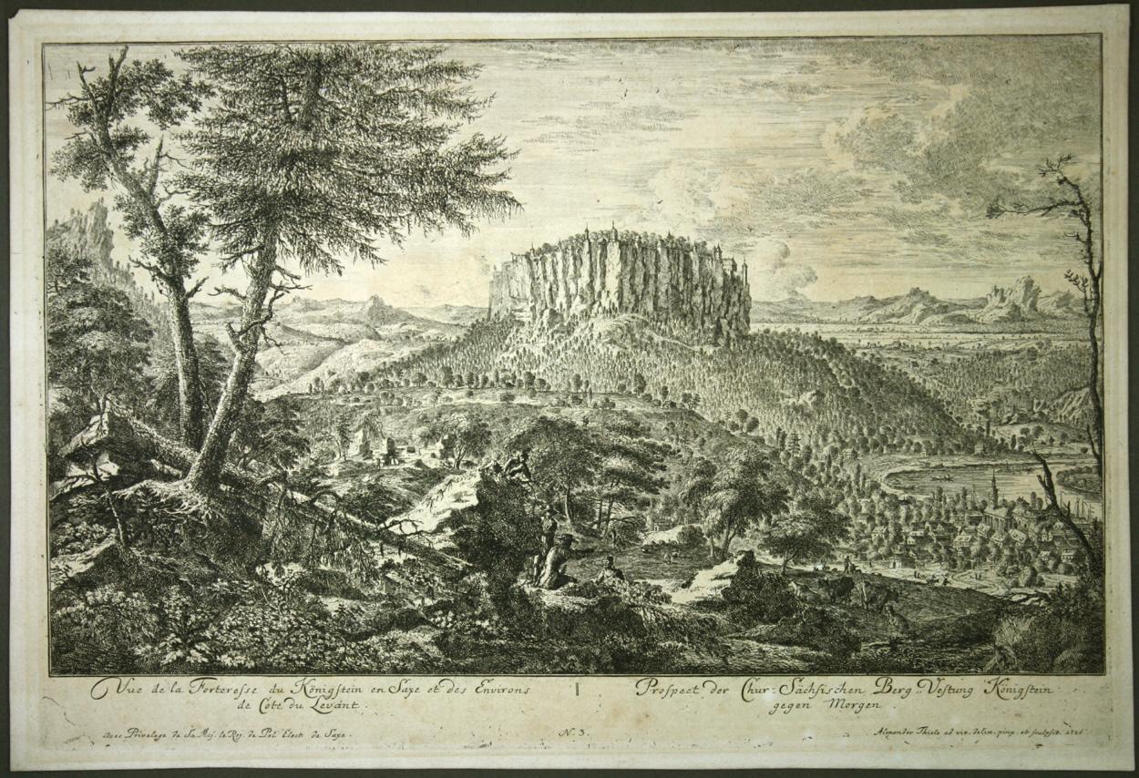 Johann Alexander Thiele, Festung Königstein gegen Morgen