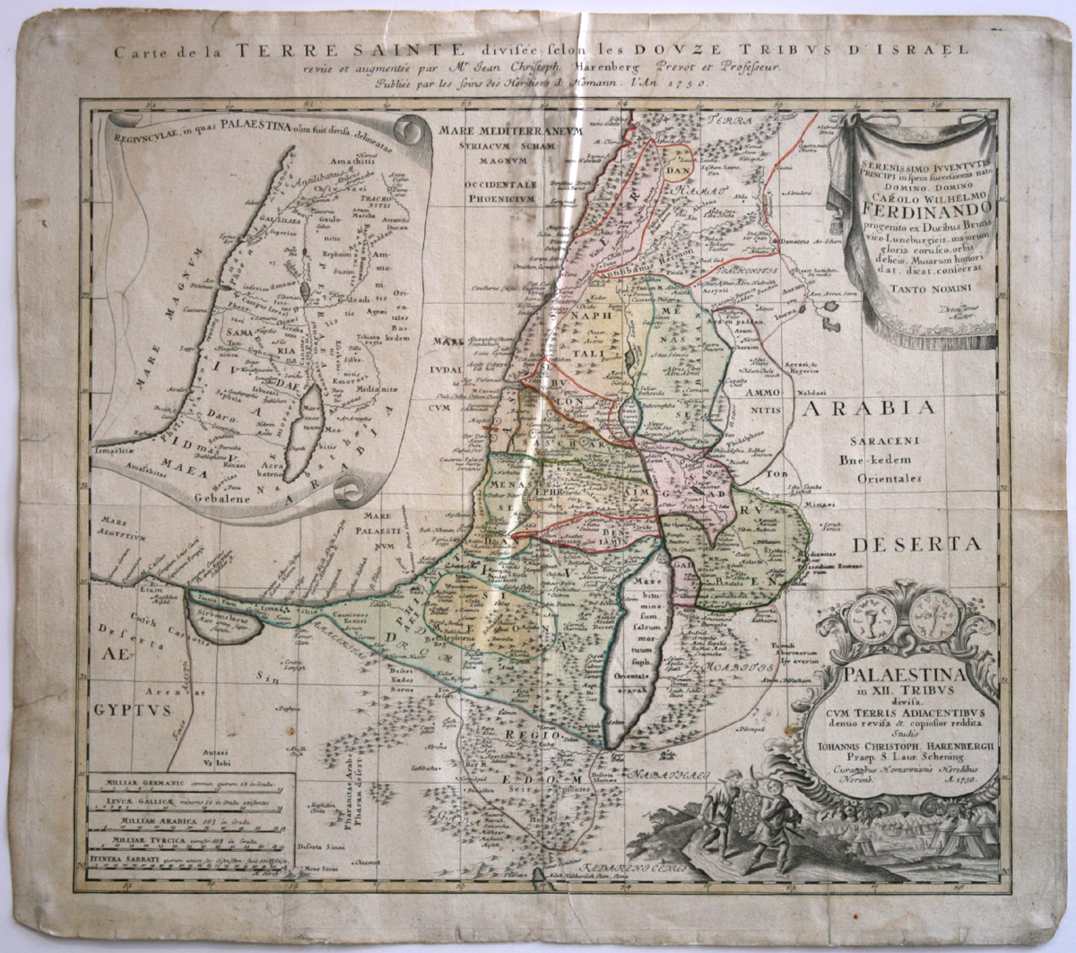 Johann Christoph Harenberg, Karte von Palästina