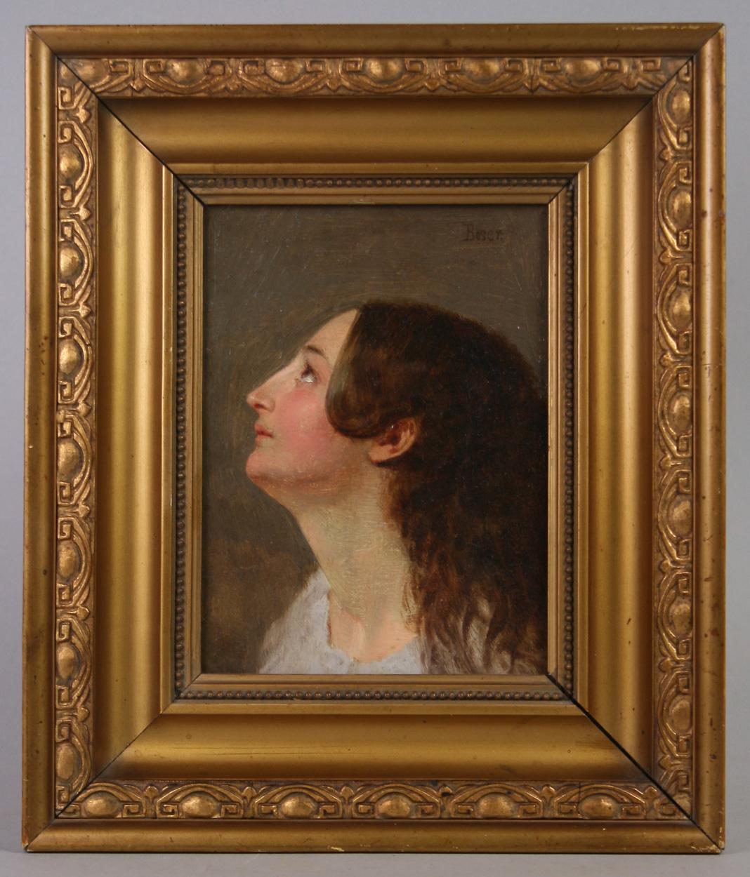 Friedrich Boser, Frauenkopf im Profil