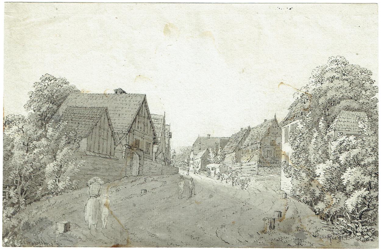 Jakob Rieger zugeschr., Dorfstraße