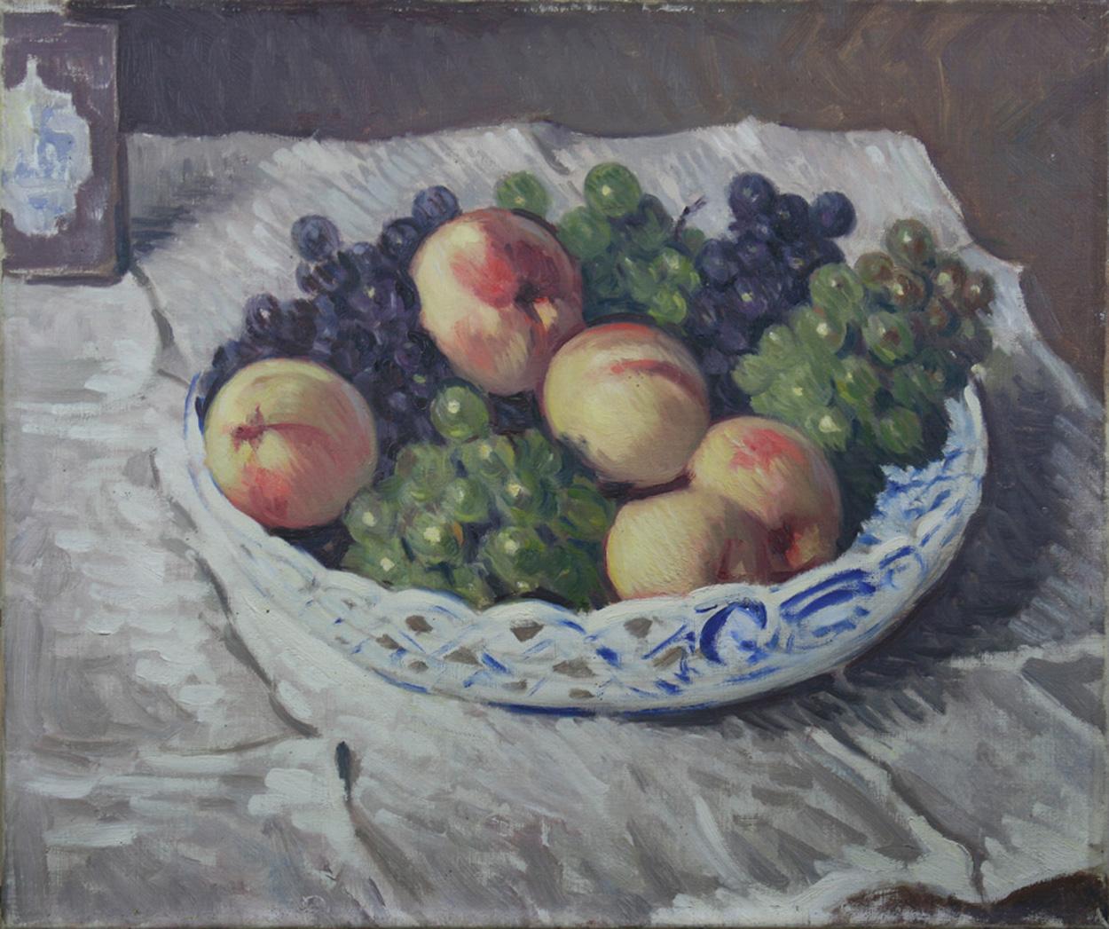 Otto Westphal, Schale mit Pfirsichen und Trauben
