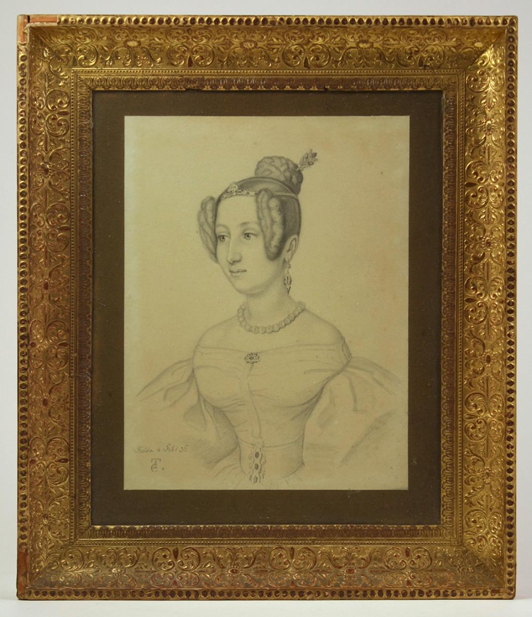Deutsch, 1836, Junge Frau in festlicher Garderobe