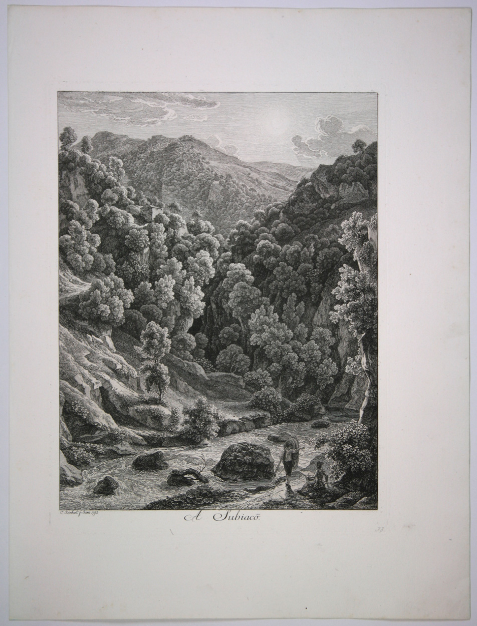 Johann Christian Reinhart, A Subiaco