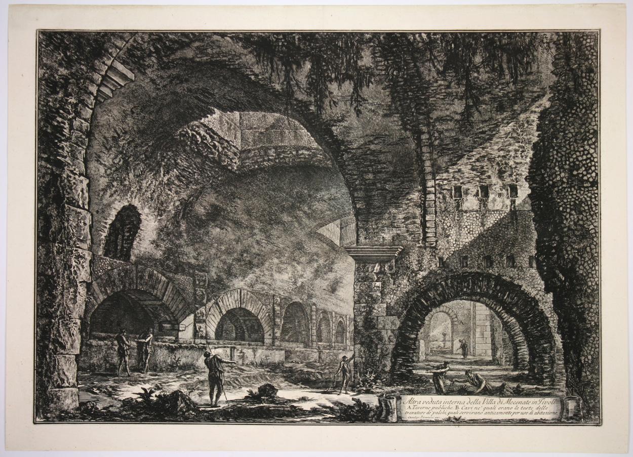 Giovanni Battista Piranesi, Andere Innenansicht der Villa des Maecenas in Tivolii