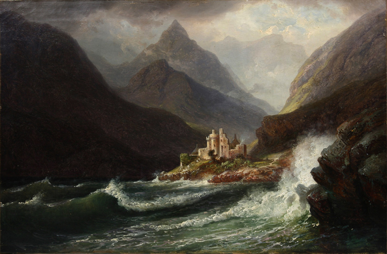 Carl Robert Kummer, Stürmische schottische Landschaft