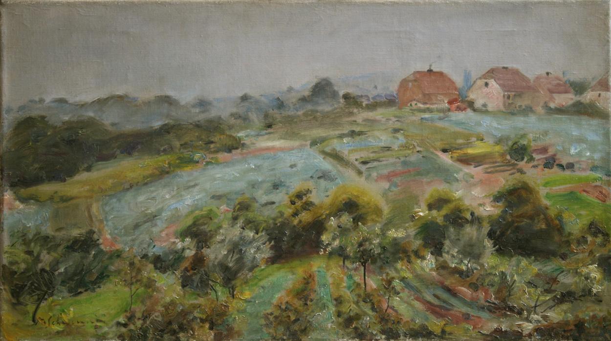 Max Schwimmer, Landschaft bei Eythra