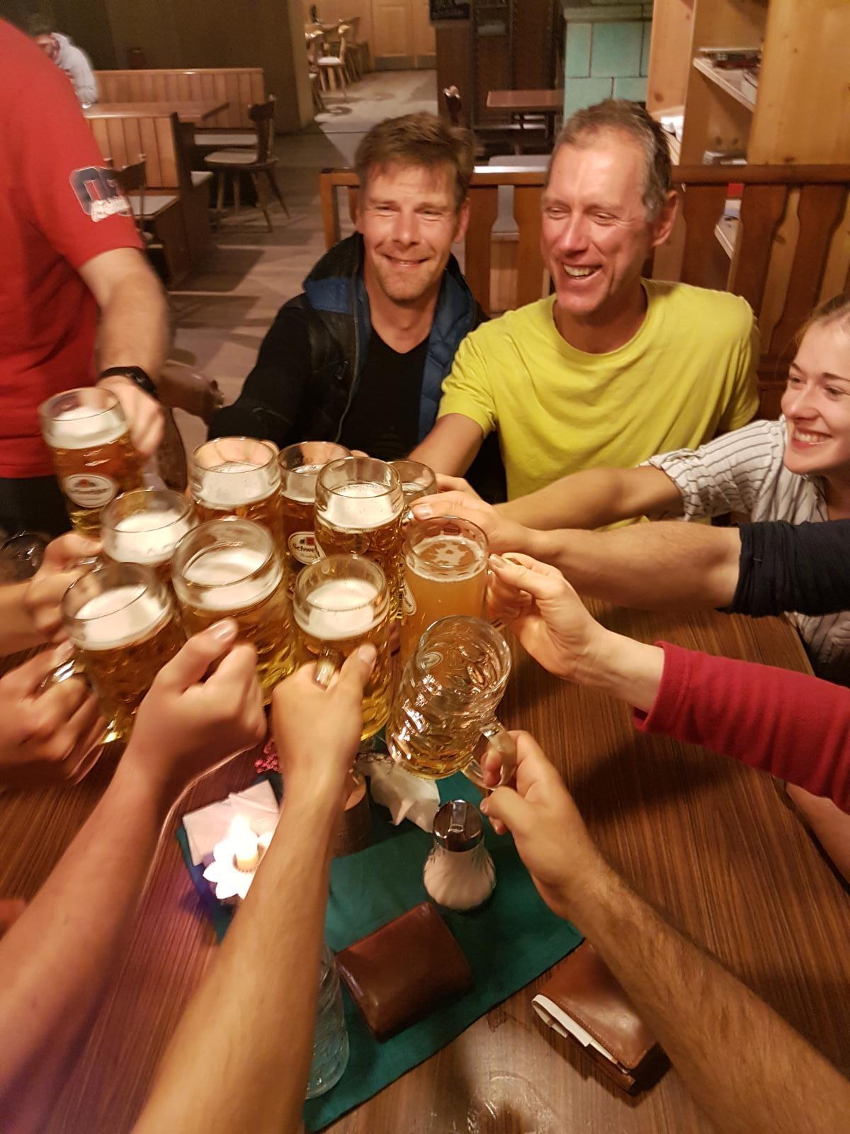 Die Belohnung für geschundene Bergsteiger.