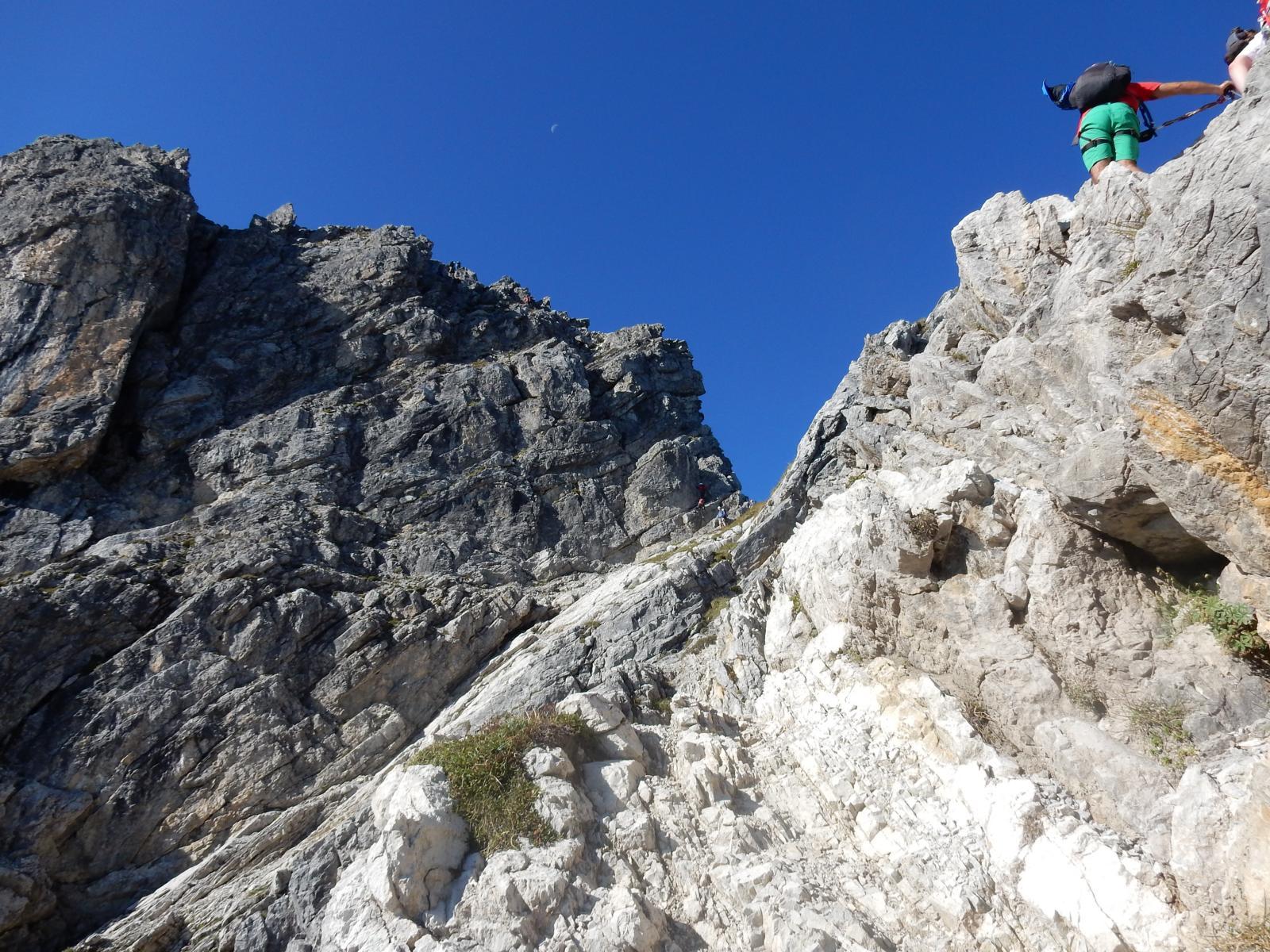 Beginn des Mindelheimer Klettersteigs