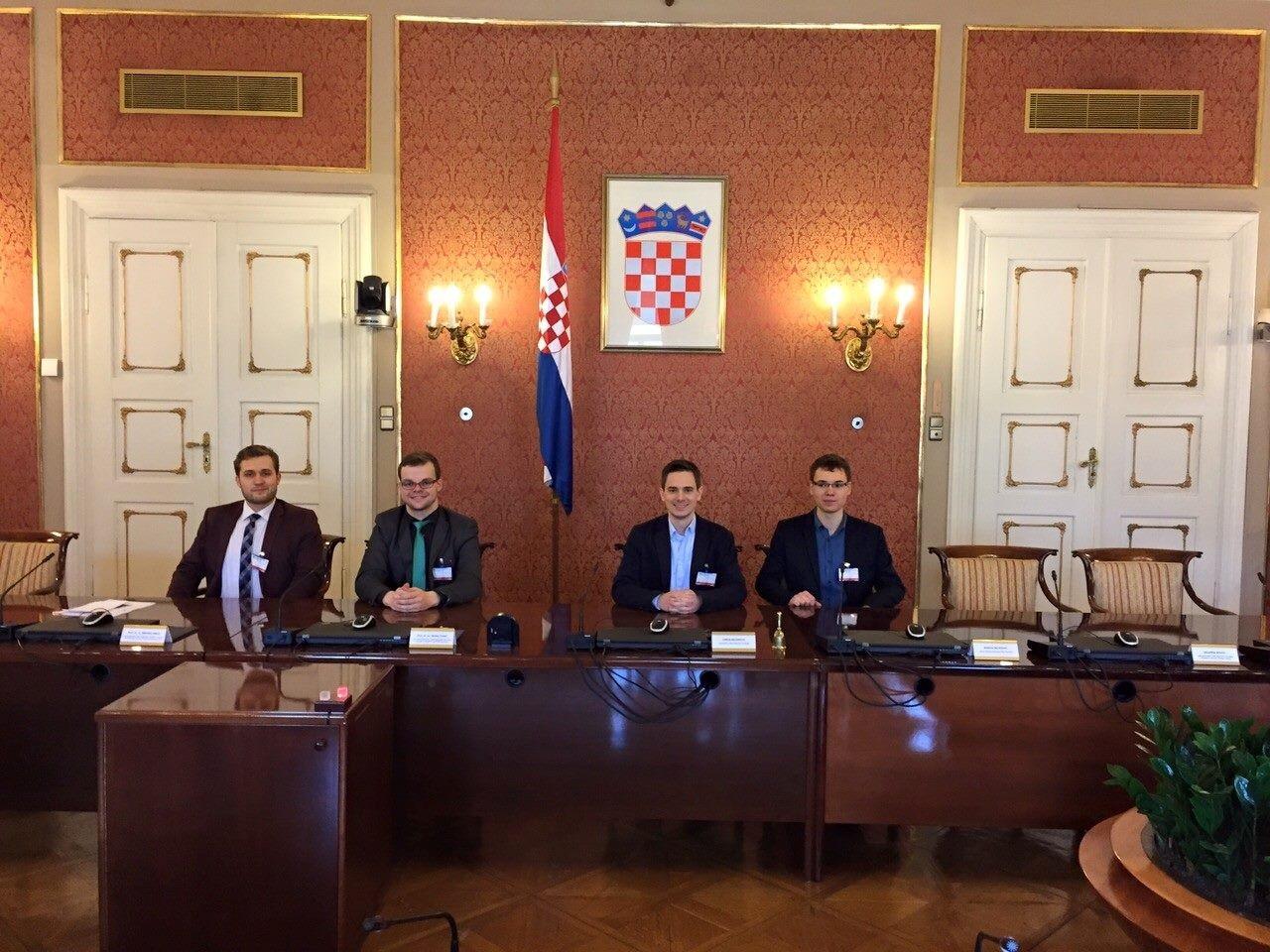 Unsere Delegation beim Zagreb-Austausch.
