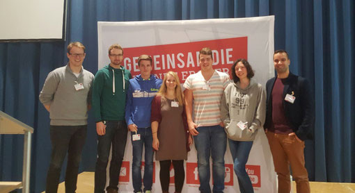 Unsere (fast komplette) Delegation auf der Landeskonferenz der Jusos Rheinland-Pfalz.