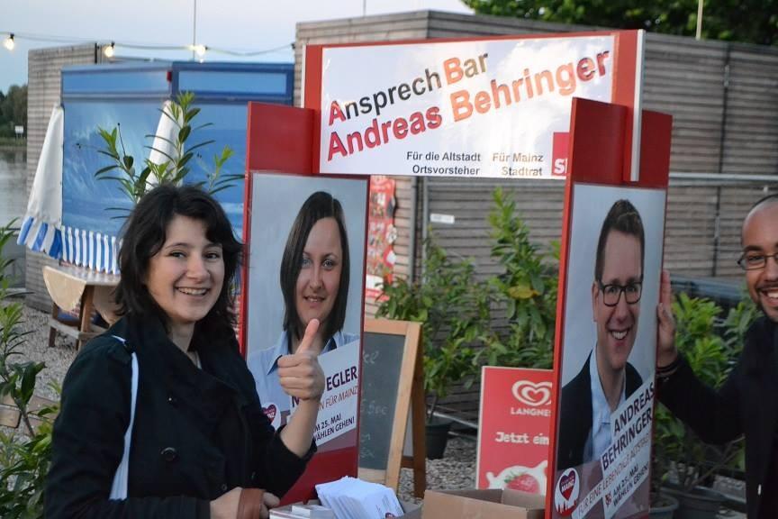 Stadtratswahlkampf für Nora Egler und Andreas Behringer.