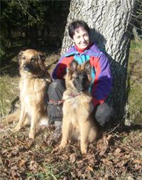 Babs mit ihren beiden Hoppsern