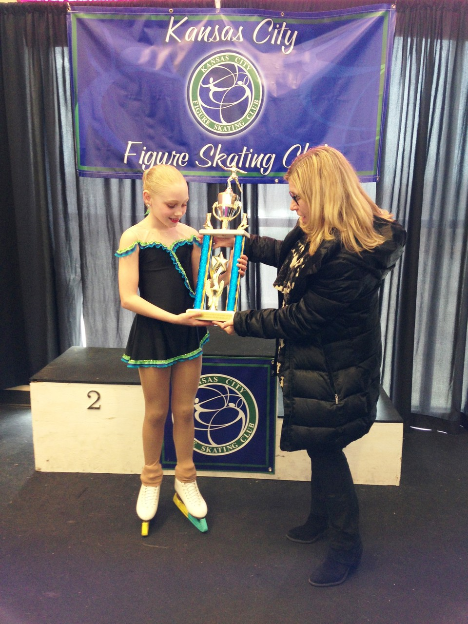 2015 Skate KC Most Outstanding Performance - Mia Hacksworth (with Lorrie Parker)