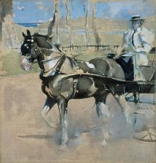 JOSEPH CRAWHALL. PIEBALD DRIVING. 1900
