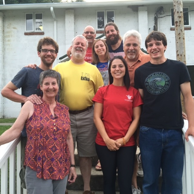 Dayspring's Mission Trip Cohort 2015 [In utter disorder: Mat, Chuck, Katie, Marsha, Johnno, Eric, William, Hannah, Joann Davis (in spirit), Bonehead