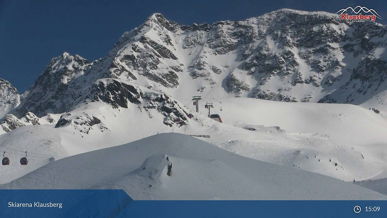 Skiarena Klausberg, Blick vom Klaussee (2154 m) SE' Bergstation und Pkt 2947, 22.03.2018, 15:09