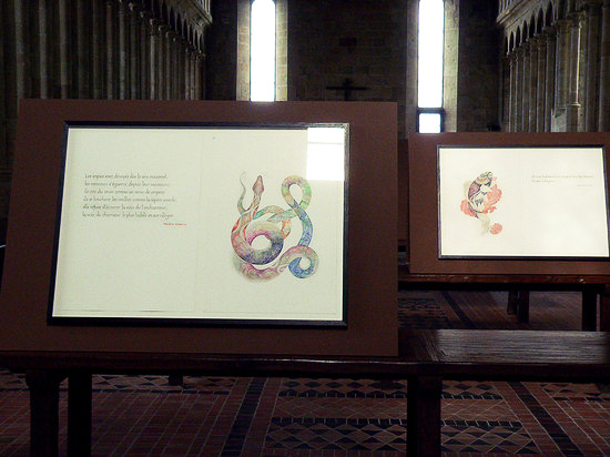 Refectoire de l'abbaye du Mont St Michel