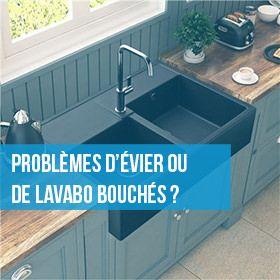 problèmes d'évier ou de lavabo bouchés