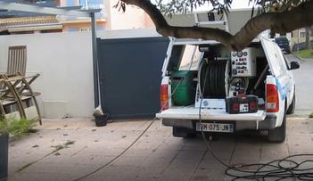 Camion hydrocureur haute pression AlloDébouchage