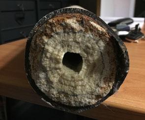 Calcaire dans canalisation bouchée Lens