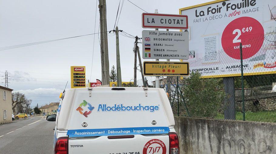 Camion hydrocureur AlloDébouchage La Ciotat
