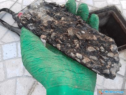 canalisation engorgée calcaire