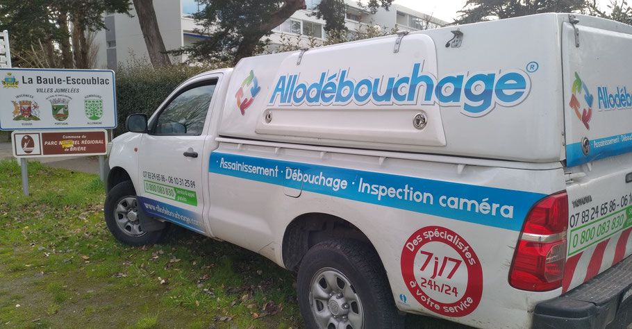 Camion AlloDébouchage intervention La Baule-Escoublac