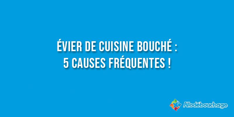 Evier de cuisine bouché 5 causes fréquentes