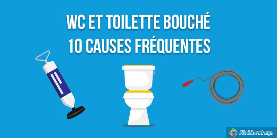 wc & toilette bouché : 10 cause fréquentes