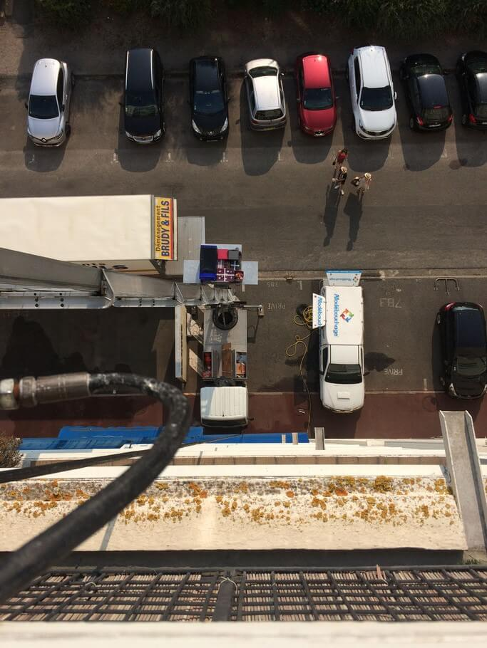 Intervention debouchage d'une canalisation immeuble Lille
