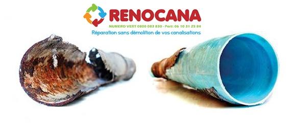 Rénovation et réparation de canalisation sans casse et sans demolition RENOCANA