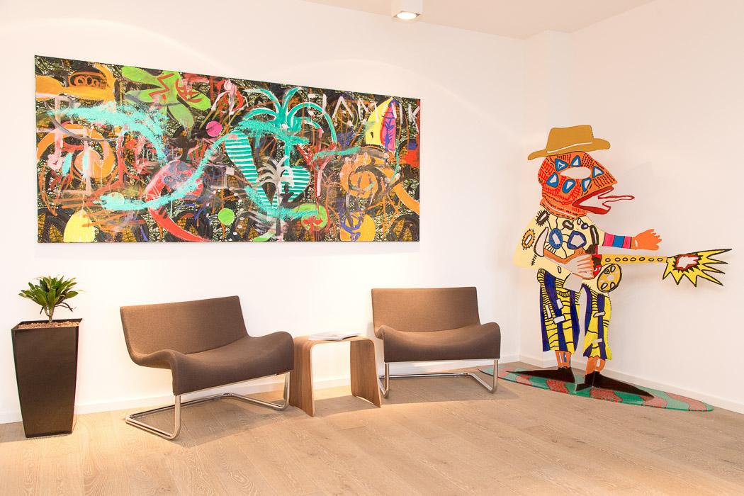 Kunstaffin – Der Empfangsbereich im Kölner Büro