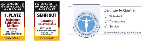 Proaesthetic Schönheitsklinik Zertifizierungen
