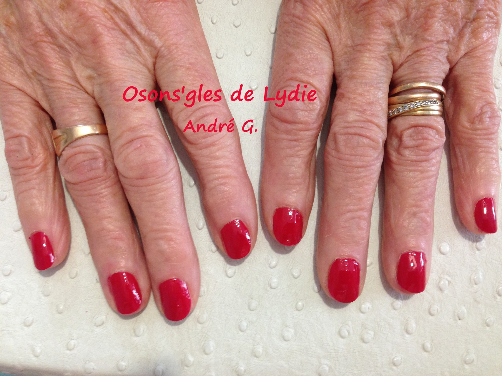 Vernis simple Rouge  : André