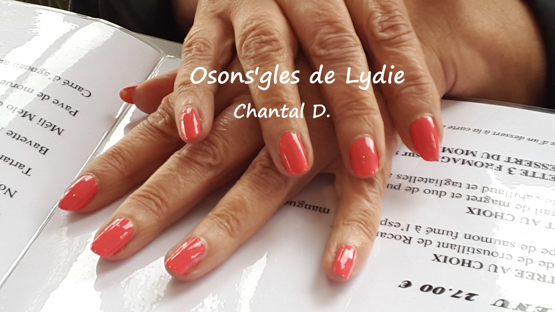 Vernis simple  rose : Chantal