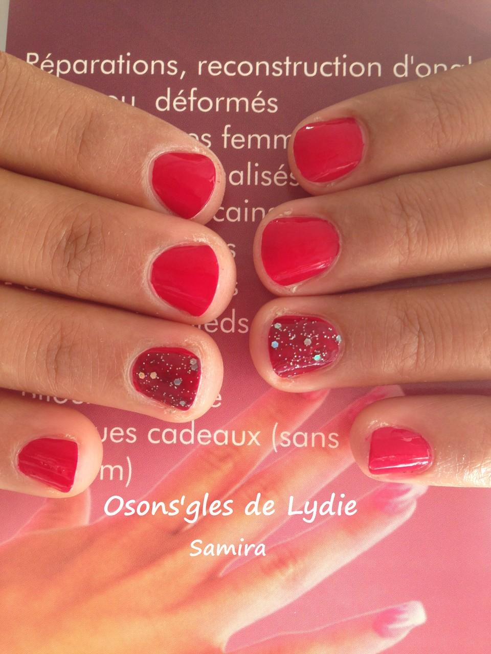 Vernis simple Rouge : Samira
