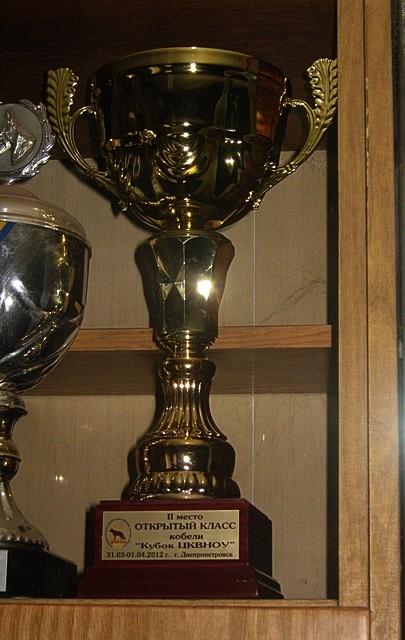 Кубок Яранта фон Нордэн за 2 место под Margit van Dorssen (Германия)