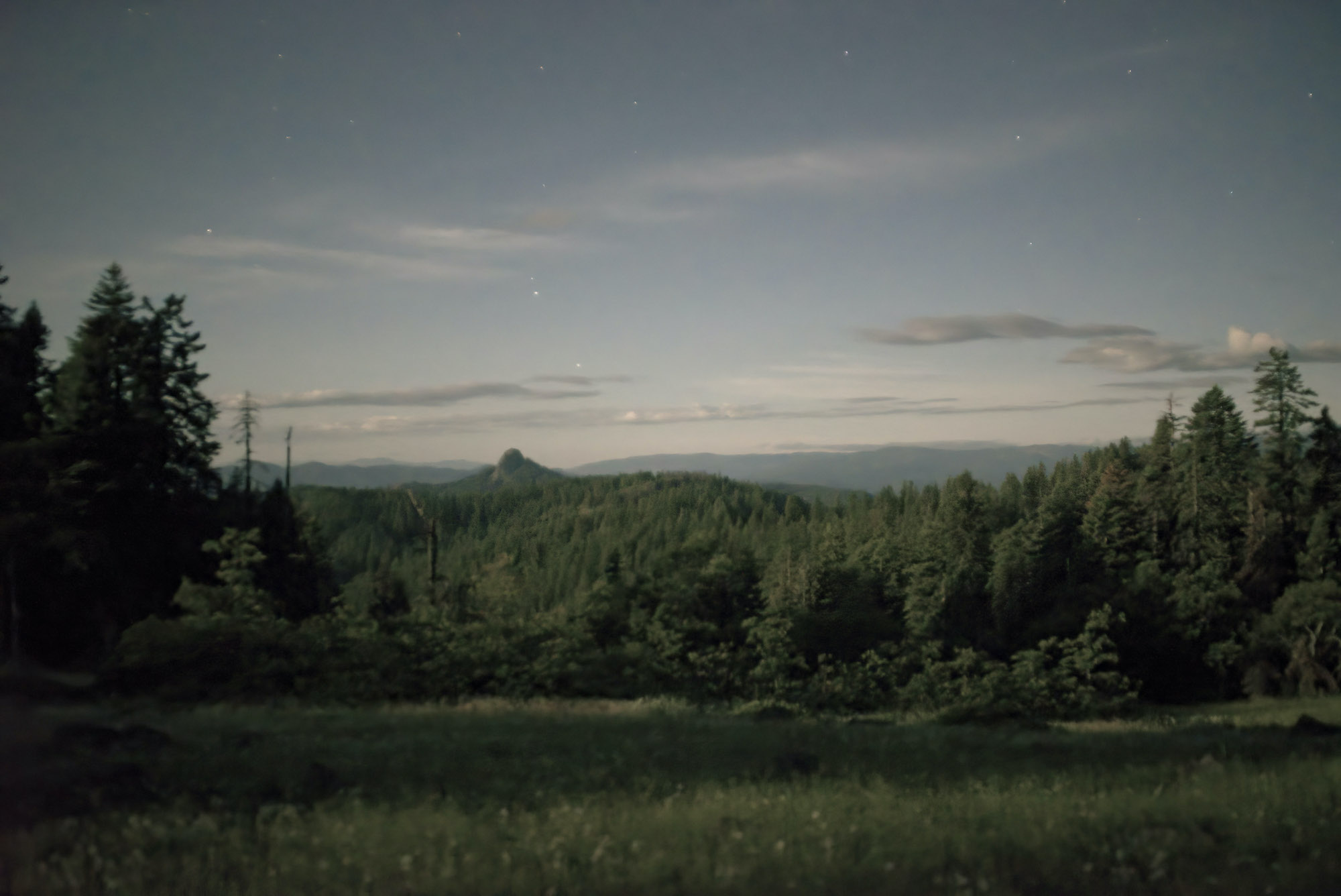"Evening Stars, Cascade-Siskiyou National Monument, Jackson County, Oregon, 2019. Inkjet print, 34 x 44"", edition of 11"